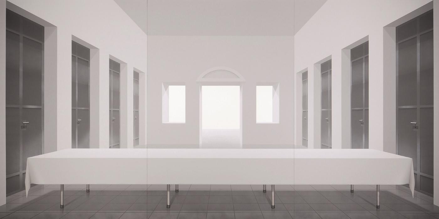 grau in grau die raumwelten des ben willikens der kulturblog von rainer zerbst. Black Bedroom Furniture Sets. Home Design Ideas