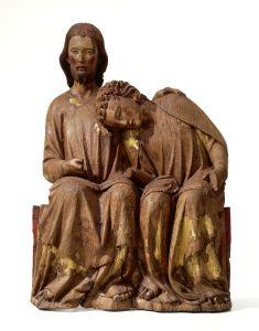 Christus-Johannes-Gruppe, vermutl. aus dem Benediktinerkloster mariaberg, LK Sigmaringen, 2. Viertel 14. Jh.